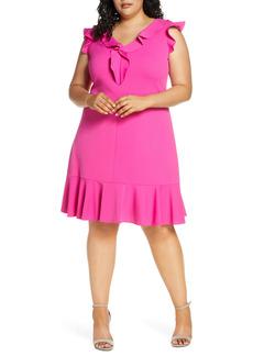 Donna Ricco Ruffle Fit & Flare Dress (Plus Size)