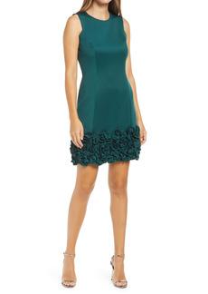 Donna Ricco Ruffle Hem Sleeveless Dress