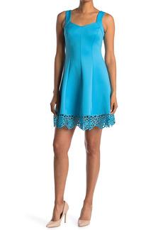 Donna Ricco Sleeveless Scuba Fit and Flare Dress