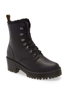 Dr. Martens Leona Faux Fur Lined Block Heel Platform Boot (Women)