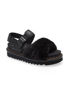 Dr. Martens Voss II Fluffy Faux Fur Platform Sandal (Women)