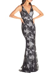 Dress the Population Dress the Poppulation Sharon Embellished Lace Evening Gown