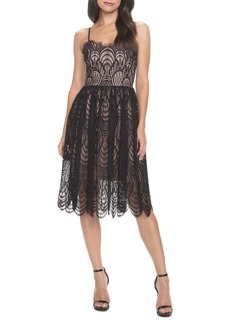 Dress the Population Francesca Embroidered Lace A-Line Dress