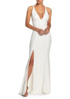 Dress the Population Iris Crepe Trumpet Gown