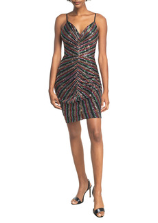 Dress the Population Viviane Sequin Ruched Minidress