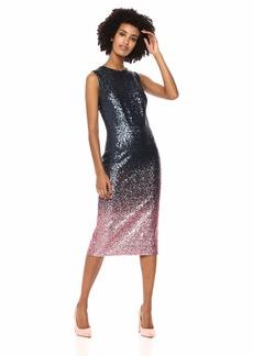 Dress the Population Women's Shawn Sleeveless Stretch Sequin Bodycon Midi Dress  M