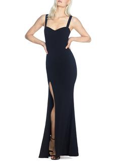 Women's Dress The Population Estella Crepe Trumpet Gown