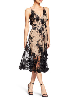 Women's Dress The Population Audrey Embroidered Fit & Flare Dress