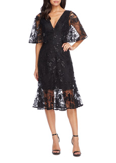 Women's Dress The Population Roseanna Lace Sequin Fit & Flare Dress
