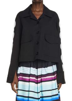 Dries Van Noten Vokar Bead Embellished Cutout Jacket