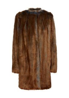 Dries Van Noten Faux-fur coat