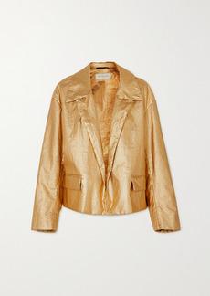 Dries Van Noten Vondi Metallic Linen-blend Jacket