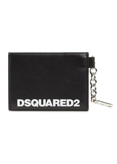 Dsquared2 Logo Print Leather Mirror Case