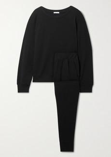 Eberjey Blair Stretch Pima Cotton And Modal-blend Sweatshirt And Track Pants Set