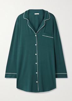 Eberjey Gisele Piped Stretch-jersey Nightdress