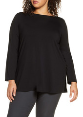 Eileen Fisher Bateau Neck Tunic (Plus Size)