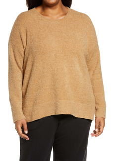 Eileen Fisher Bouclé Boxy Sweater (Plus Size)