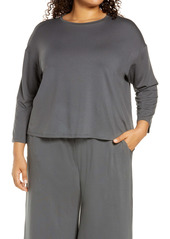 Eileen Fisher Boxy Jersey Top (Plus Size)