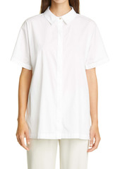 Eileen Fisher Classic Collar Stretch Organic Cotton Shirt (Regular & Petite)