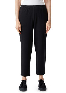 Eileen Fisher Cozy Brushed Terry Tapered Ankle Pants