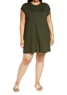 Eileen Fisher Crewneck Boxy Dress (Plus Size)