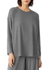 Eileen Fisher Crewneck Long Sleeve Box Top