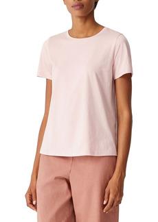 Eileen Fisher Crewneck Organic Cotton T-Shirt (Plus Size)