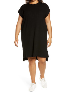 Eileen Fisher Crewneck Rib Knit Dress (Plus Size)