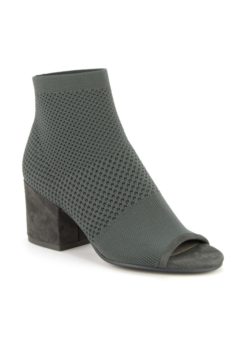 Eileen Fisher Croft Open Toe Knit Bootie (Women)