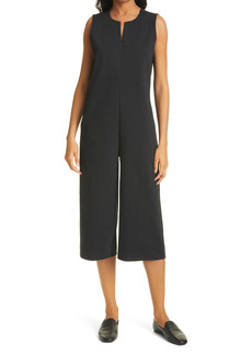 Eileen Fisher Crop Wide Leg Jumpsuit (Petite)