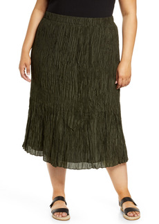 Eileen Fisher Crushed Silk Skirt (Plus Size)
