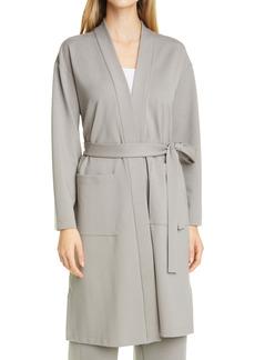 Eileen Fisher High Collar Tie Waist Jacket