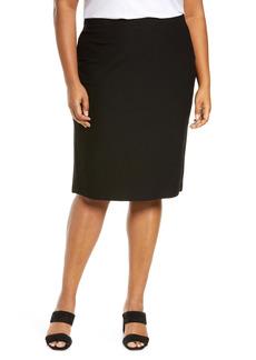 Eileen Fisher High Waist Pencil Skirt (Plus Size)