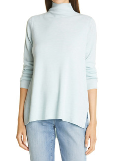 Eileen Fisher High/Low Merino Wool Turtleneck Sweater