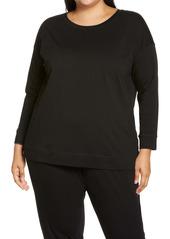 Eileen Fisher Jewel Neck Long Sleeve Top (Plus Size)