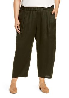 Eileen Fisher Lantern Organic Linen Ankle Pants (Plus Size)