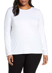 Eileen Fisher Long Sleeve Crewneck Top (Plus Size)