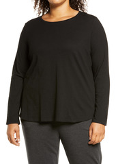 Eileen Fisher Long Sleeve Knit Top (Plus Size)