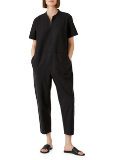 Eileen Fisher Mandarin Collar Jumpsuit