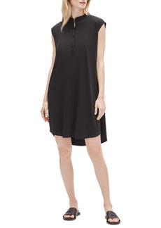 Eileen Fisher Mandarin Collar Shirtdress