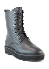 Eileen Fisher Nelly Leather Combat Boot (Women)