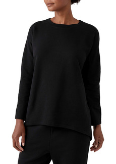 Eileen Fisher Organic Cotton Knit Twill High/Low Top