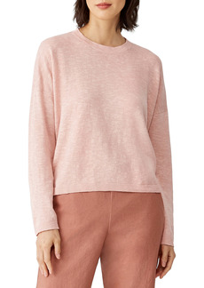 Eileen Fisher Organic Linen & Cotton Crewneck Sweater (Plus Size)