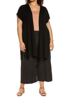 Eileen Fisher Organic Linen & Cotton Vest (Plus Size)