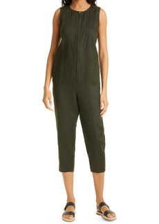 Eileen Fisher Organic Linen Crop Jumpsuit