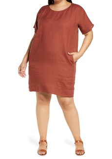 Eileen Fisher Organic Linen Dress (Plus Size)