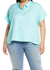 Eileen Fisher Organic Linen Shirt (Plus Size)