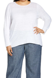 Eileen Fisher Organic Linen Tunic Sweater (Plus Size)