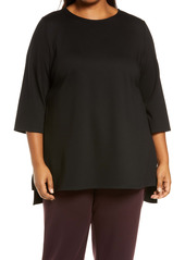 Eileen Fisher Ponte Knit Tunic Top (Plus Size)