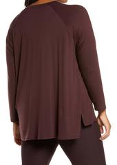 Eileen Fisher Raglan Sleeve Stretch Jersey Tunic (Plus Size)